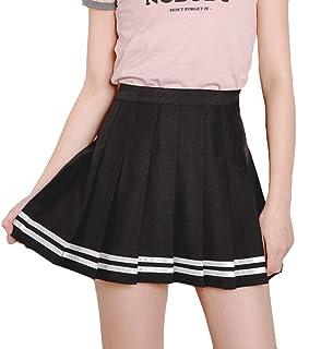 Mxssi Femminile Kawaii Vintage A Vita Alta Gonna a Pieghe Femminile Giapponese Harajuku Stile Britannico Preppy Gonne Cari...
