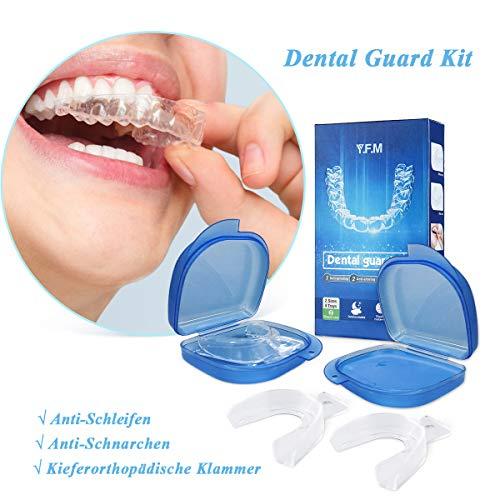 Zahnschutz-Kit, Y.F.M Mundschutz Verhindern effektiv Zähneknirschen, Verbessert Schnarch Schiene und Atmungshilfe, Schützt Zähne, Zahnfleisch & Kiefer