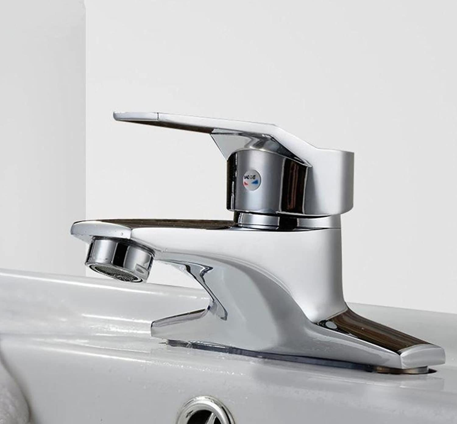 Two hot and cold basin double hole mixer faucet washbasin faucet