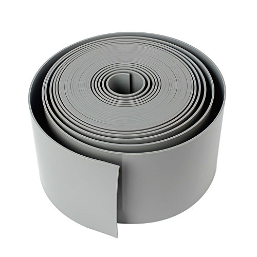 Forever Speed Rasenkante PE 2mm Rolle Glatt Kunststoff Beeteinfassung Rasenbegrenzung Beetumrandung 25m x 15cm (LxH) Grau