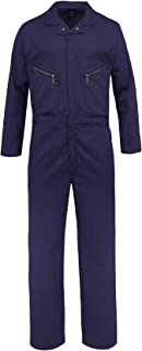 Pro-Utility Cotton Blend Long Sleeve Coverall with Zippered Frontal Pockets