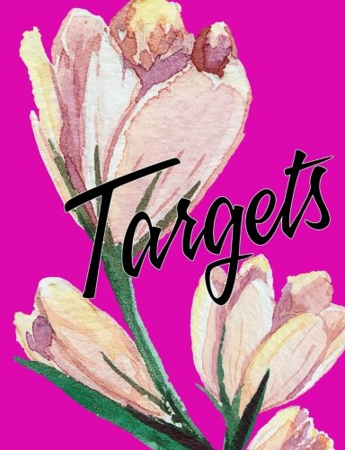 Targets and Goals Pink Flowers Composition Notebook 7.44x9.69 4x4 Quad Grid Graph: Blank 4x4 Quad Grid Graph Pages for Targets, Goals, Notes, Bullet ... Designs, and Plans. Exercise Book or Journal.