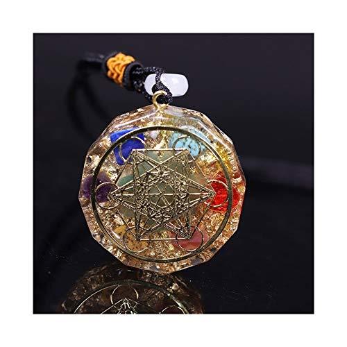 Collar de decoración collares para mujeres. 7 Chakra de la yoga colgante de la energía collar colgante de la energía Aura Meditación collar de joyería de resina entre mujeres y hombres, la mejor opció