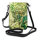 Fashion Ancient Map Of The World Phone Bag For Boys Adjustable Strap Crossbody Bag,Cellphone Purse, Phone Purse,Cell Phone Shoulder Bagadjustable Shoulder Strap For Camping.