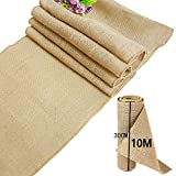 time to TtS 30cmx10M Rústica Yute Rollo Rodar Burlap Jute Natural decoración...