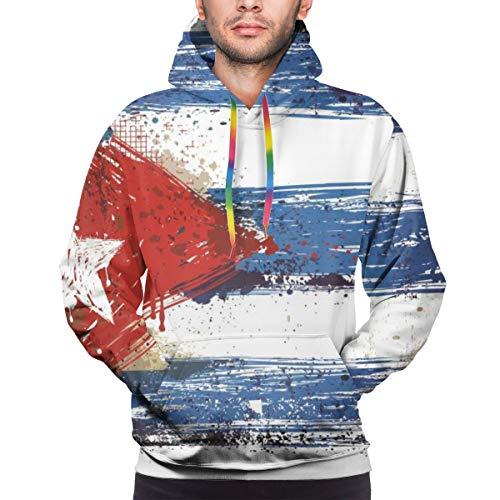 Harry wang Der Hoodie der Männer malte kubanische Flagge, XXL Sweatshirt
