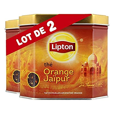 Lipton Thé Noir en Vrac Orange Jaïpur, Label Rainforest Alliance, 200g parent