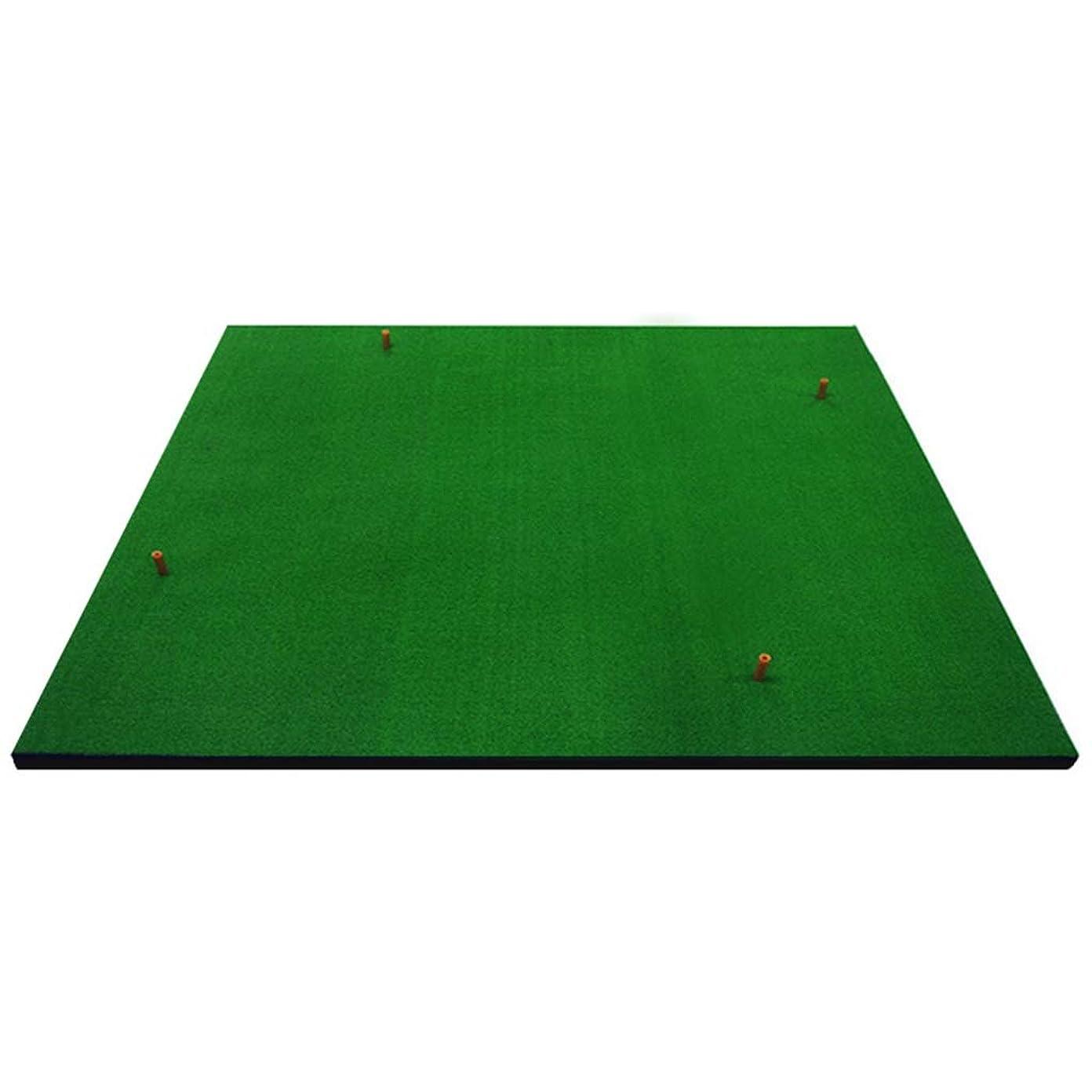 継続中お祝いサバント練習用品 厚手のゴルフマット、練習マットホルダーを打つ現実的な草マットを置くポータブルアウトドアスポーツゴルフトレーニングの芝生マット ショット用マット