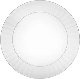 Party Essentials Deluxe Quality Hard Plastic 70 Count Round Party/Salad Plates, 7-1/2-Inch, Clear