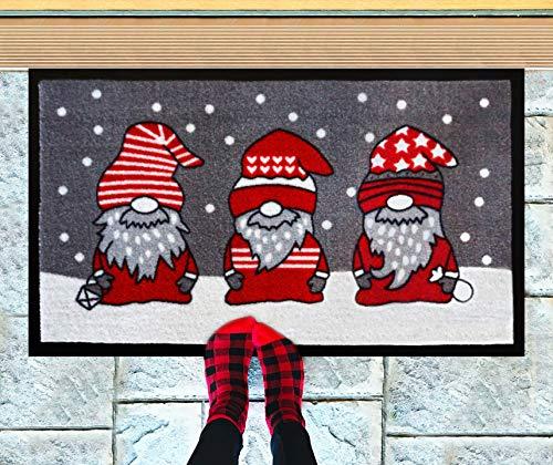 Christmas Doormat 18x30 - Christmas Rugs - Welcome Mat - Indoor Door Mat - Adsorbing Winter Doormat - Christmas Decorations - Christmas Door Mat - Front Door Mat Outdoor - Door Mats for Home Entrance
