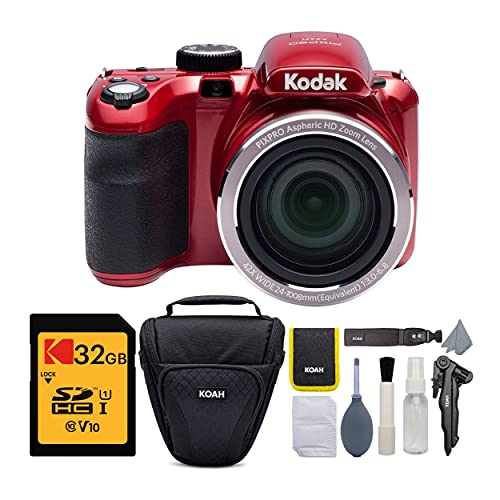 KODAK PIXPRO AZ421 Astro Zoom 16MP Digital Camera with 42x Optical Zoom (Red) with...