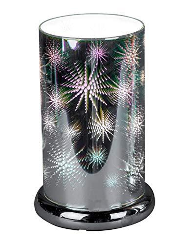 Moderna lámpara de mesa de noche para dormitorio, salón o comedor con sensor táctil, función de intensidad regulable, casquillo E27, ancho 15 cm, altura 24 cm