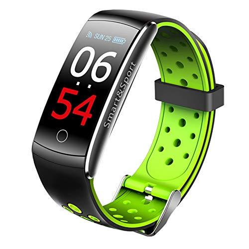 Fitness Tracker Q8S, Braccialetto Smart Watch Attività Tracker Orologio con Cardiofrequenzimetro, Impermeabile Smart Band con Contatore Conta Passi, Calorie,Contapassi Orologio,per Android iOS (Verde)