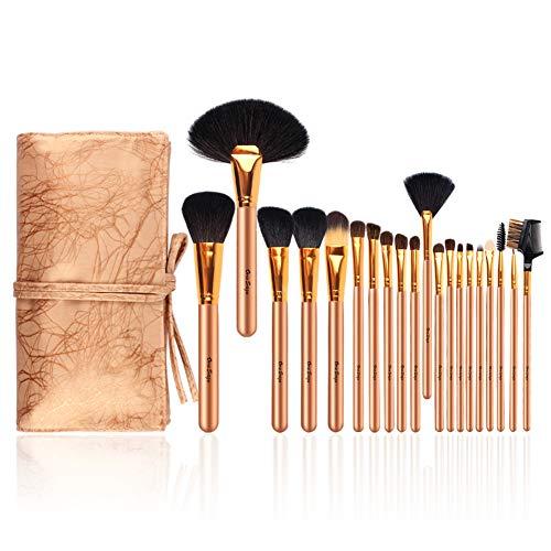 Pinselset 20 stück Unversales Make-Up Pinsel Set Schmink Pinselsets PU Leder Kosmetiktasche Make up...