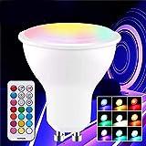 BANANAJOY GU10 3W 5730 SMD RGB + Bombilla LED Dimmable Blanco con Control Remoto AC85-265V