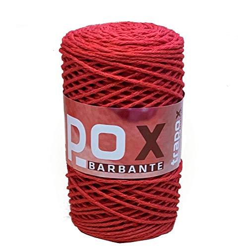 Acan Hilo barbante 255 gr 172 MT Color Rojo, Ovillo Hilo algodón,...