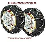 RICAMBIITALIA2017 Catene da Neve 16 mm Adatto per SUV E Fuoristrada Gruppo 380-30 Monta su GOMME 205 R14-195 R15-205/75 R14-205/75 R15-185/75 R16-205/70 R15-215/65 R15-195/75 R15