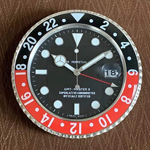 T-Misenosy Horloge Murale cyclope en métal Art Montre horloges décor à la Maison Horloge Murale sur Le Mur en Verre avec loupe 6 34 cm