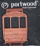 Wooden Trolley Car, Electrico, Straßenbahn, Voiture de Chariot, Carrello, Tranvia - Magnet, Iman, Aimant, Calamita