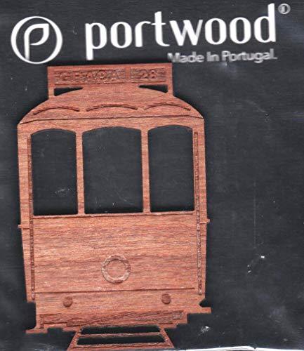 Wooden Trolley Car, Electrico, Straßenbahn, Voiture de Chariot, Carrello, Tranvia - Magnet,...
