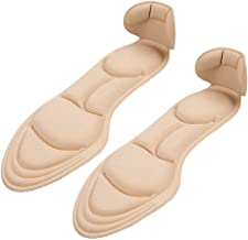 Occitop 2pcs Sponge Arch Supports Heels Shoes Insoles Anti-slip Massage Inserts