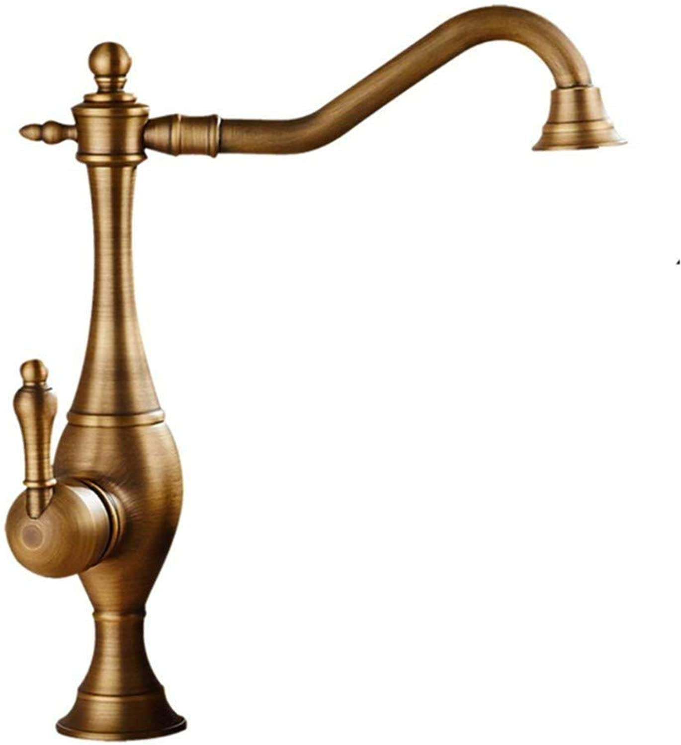 Basin Taps Swivel Spout Faucet Tap Traditional Single Lever Bathroom Taps Bath Water Faucet with 360 Degree Swivel Spout