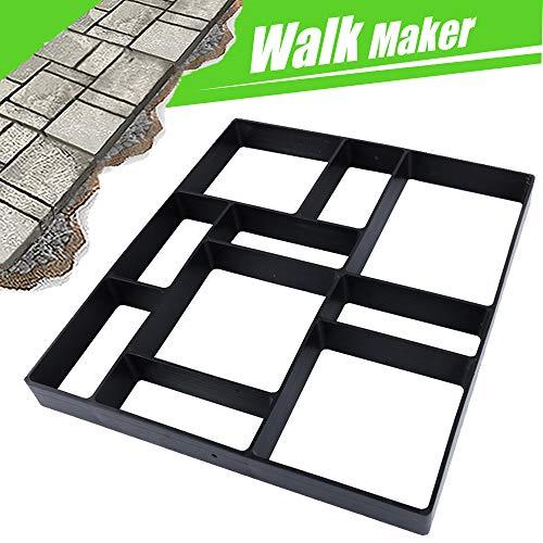 17.5'x15.5'x1.5' CJGQ Walk Path Maker Reused Concrete Molds Pathmate Stone Molding Stepping Stone Paver Walk Way DIY Path Paving Garden Yard Patio Mold (10-Grid)