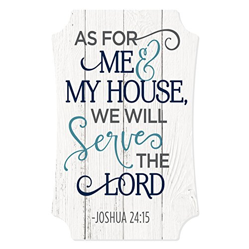 MRC Wood Products As for Me and My House We Will Serve The Lord Placa envelhecida 12x8