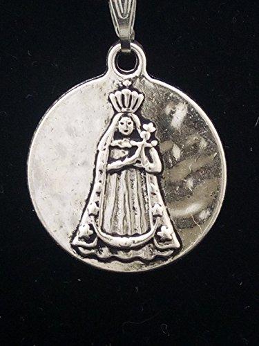Colgante Medalla en Zamak metalizado y Acero, Virgen de la Consolación