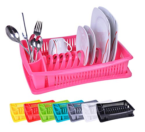 Dish drying rack - Dish Drainer - Drip drainer - Colour: Pink