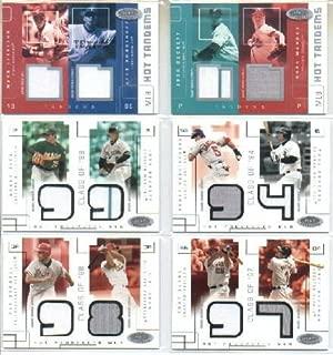 2003 Hot Prospects Class Of Game Used #NGPK Nomar Garciaparra Paul Konerko Game-Worn Jersey Card Serial #'d/375