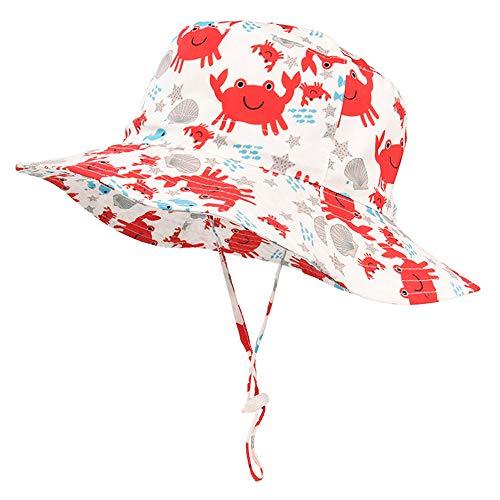 iiSPORT Unisex Sonnenhut Jungen Mädchen Sommerhut mit Breiter Krempe, UPF 50+, Kopfumfang Verstellbar/Sonnenschutz Top, Kopf bis zu 48cm