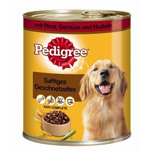 Hundefutter 12x Pedigree Dose Adult Rind, Gemüse & Nudeln 800g Hundenassfutter