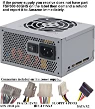 Genuine FSP300-60GHS (NOT A SUBSTITUTE) 300 Watt Micro ATX Power Supply Upgrade for Astec ATX202-3515-1412B, ATX202-3545
