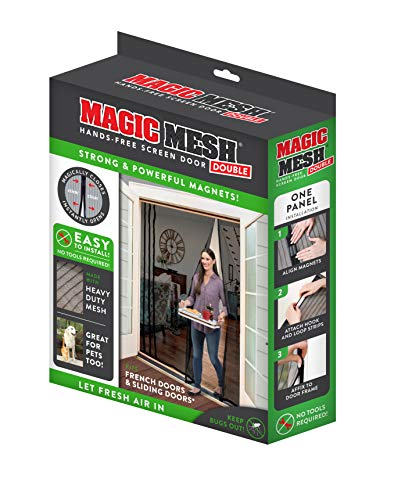 Magic Mesh Magne Double Hands Free Magnetic Screen, Fits French & Sliding Doors 75 in x 83 in