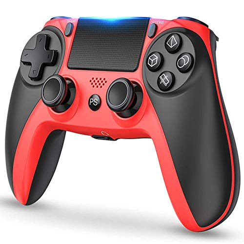 Xin Hai Yuan Gamepad Inalámbrico Bluetooth 600Mah 6-Axis Touchpad Game Controller Gamepad Joysticks para PS4, PS4 Pro, PS4 Slim