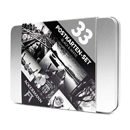 Postkarten-Set Black & White | Schwarz-Weiß-Fotos von Landschaften und Sehenswürdigkeiten | Die elegante Deko- und Geschenkidee