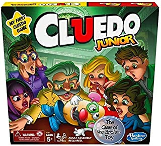 CLUEDO Junior - Classic Mystery Board Game for younger Kids - Case of the Broken Toy - 2-6 Players - Kids Board Games and ...