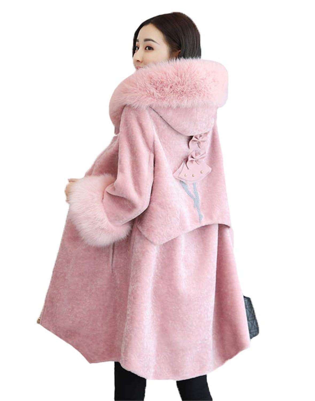 (イチイチ) itiiti 2色 レディース ファーコート フォックス フェイクファー 毛皮コート フワフワ 暖か ロング丈 秋冬 YY902