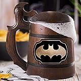 Batman Animated Series Cartoon Wooden Beer Mug, Batman Animated Series Beer Stein, Custom Beer Stein, Gamer Gift, Gamer Tankard, Gift for Men, Gift for Him