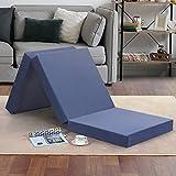 "Best Folding Mattresses - Olee Sleep Tri-Folding Memory Foam Mattress Topper, 4"" Review"
