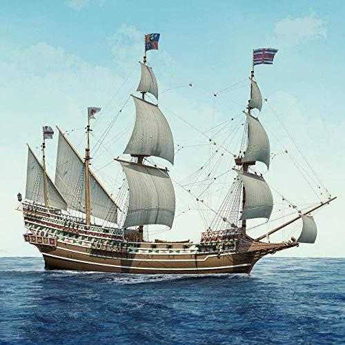 JHSHENGSHI HMS Victory 1765 Western Kit de Modelo de Barco de Vela de Madera de la Marina Real Británica
