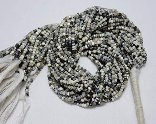 LOVEKUSH 50% Off Gemstone Jewellery 5 strands Dendrite Opal Beads, Opal Gem Stone, 3 mm Beads, Faceted Rondelle, Gemstone For Jewelry, 13.5 Inch Code:- RADE-30847