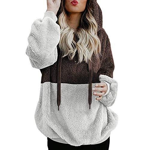 Felpa Donne Tumblr Corte con Stampa di Fiore Elegante Abbigliamento Ragazza Invernale per Inverno Natale Regali//Multicolore S-XXL Felpe Donna Tumblr Zip Senza Cappuccio