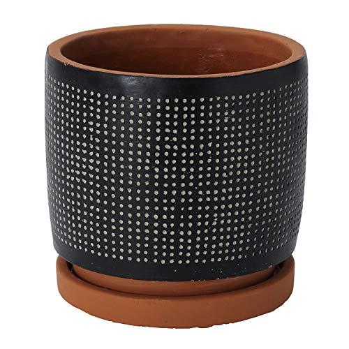 SPICE OF LIFE(スパイス) 植木鉢 ドットプランター ブラック Lサイズ 直径17cm 高さ16.5cm CCGF1013BK