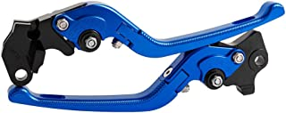 3D CNC Aluminum Folding Motorcycle Brake Clutch Levers, Left & Right, for MV F3 675 2013-2018 for F3 800/AGO/RC 2014-2018 (Blue)