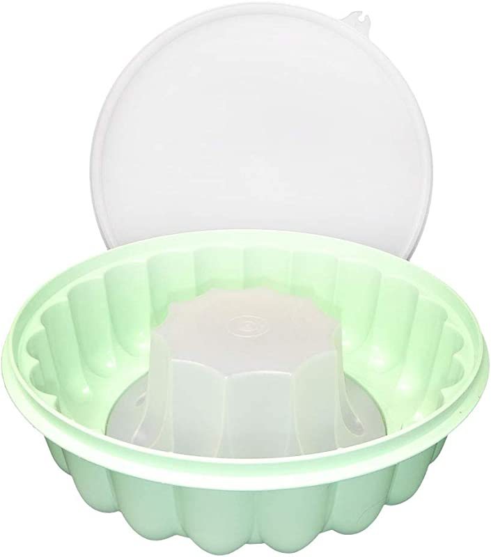 Tupperware Large Green Jello Mold Jel N Serve With Lid Green