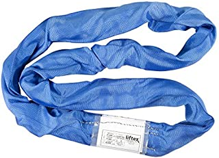 Liftex ENR7X10PD Endless Roundup Roundsling, 21200 lb. Vertical, 17000 lb. Choker, 42400 lb. Basket, 10', Blue
