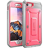 SupCase Unicorn Beetle Pro Series Case Designed for iPhone SE 2nd generation/iPhone 8 /iPhone 7, Full-body Rugged Holster Case with Built-in Screen Protector for Apple iPhone SE (Pink/Gray)