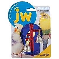 JW Pet Activitoy Spinning Bells Translucent Plastic Birds Interactive Fun Toy